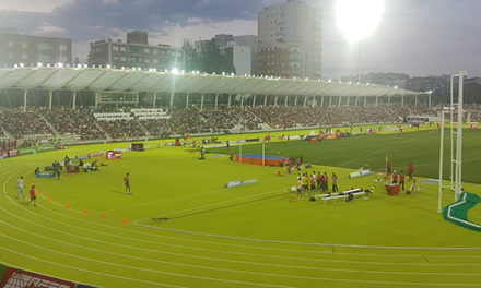 El atletismo volvió a casa a lo grande: lleno total en Vallehermoso