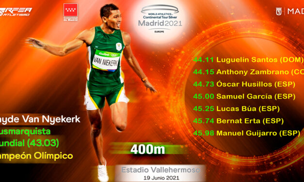 Van Niekerk y un 400 de locura